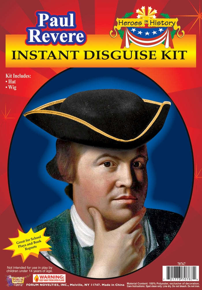 Halloween Costumes, Heroes In History Paul Revere Accessory Kit, Historical Costume, Miscellaneous Accessories Costume, Wigs & Hair Costume
