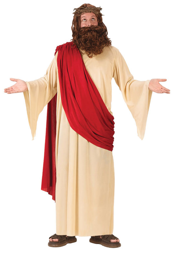Biblical Costume, Halloween Costumes, Jesus Halloween Costume, Jesus With Wig And Beard, Men's Costumes