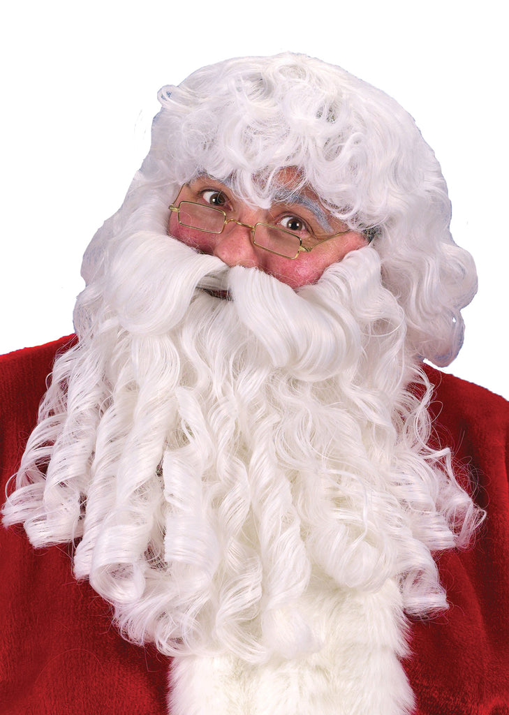 Dlx Santa Wig Beard Mustache, Halloween Costumes, Holiday Costumes, Mustache & Beards Costume