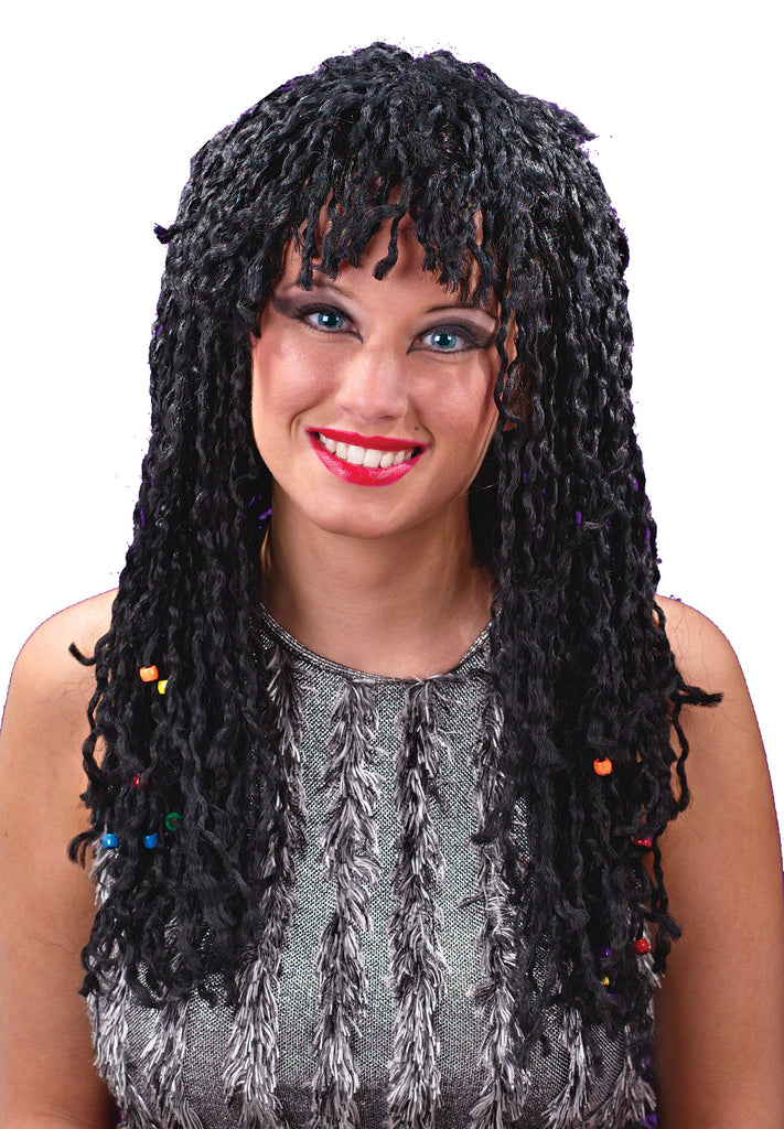 Halloween Costumes, white wig, Wig Beaded Twist, Wigs & Hair Costume
