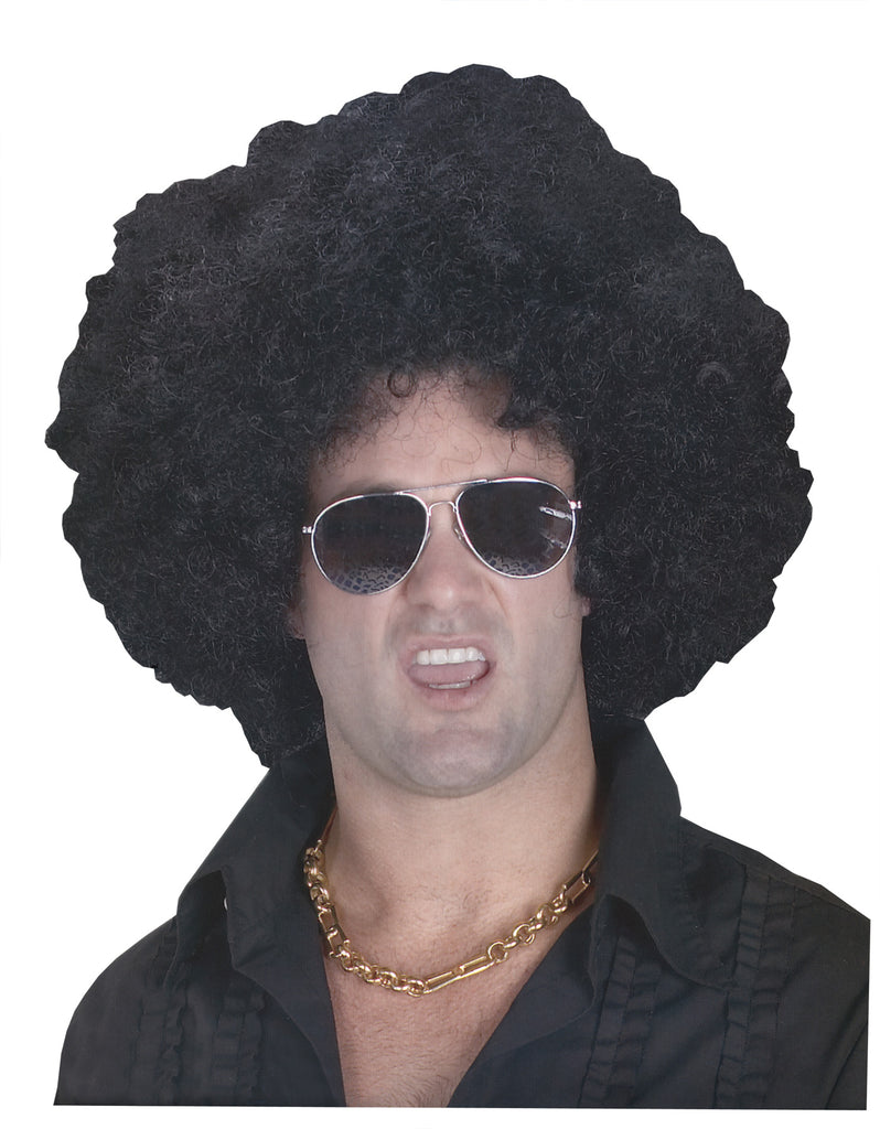 60's - 70's Costume, Halloween Costumes, white wig, Wig High Afro Black, Wigs & Hair Costume