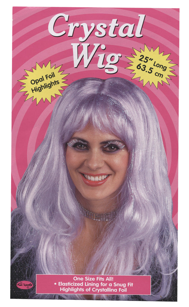 Crystal Wig Purple, Halloween Costumes, white wig, Wigs & Hair Costume