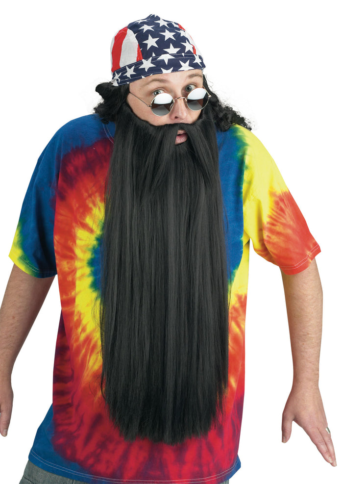 Beard W Mustache Black, Halloween Costumes, Mustache & Beards Costume, Witch & Wizard Costume