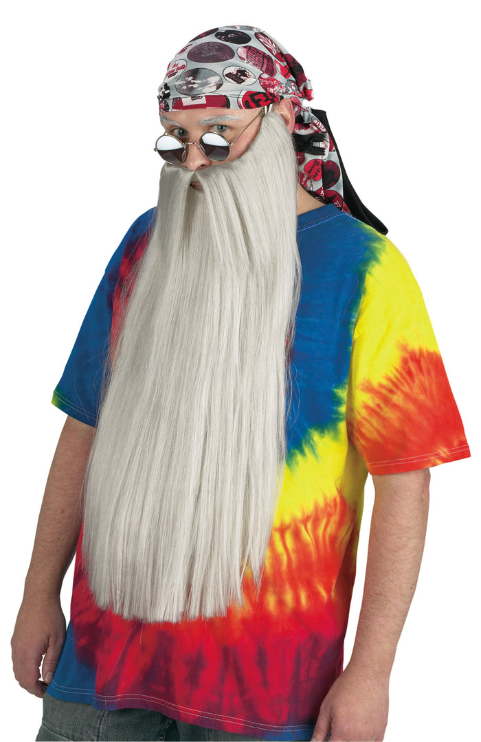 Beard W Mustache Gray, Halloween Costumes, Mustache & Beards Costume, Witch & Wizard Costume