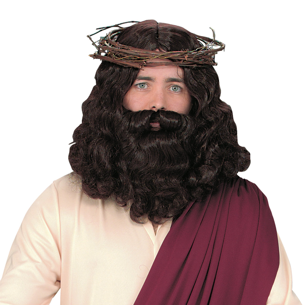 Biblical Costume, Halloween Costumes, Jesus Wig With Beard, white wig, Wigs & Hair Costume