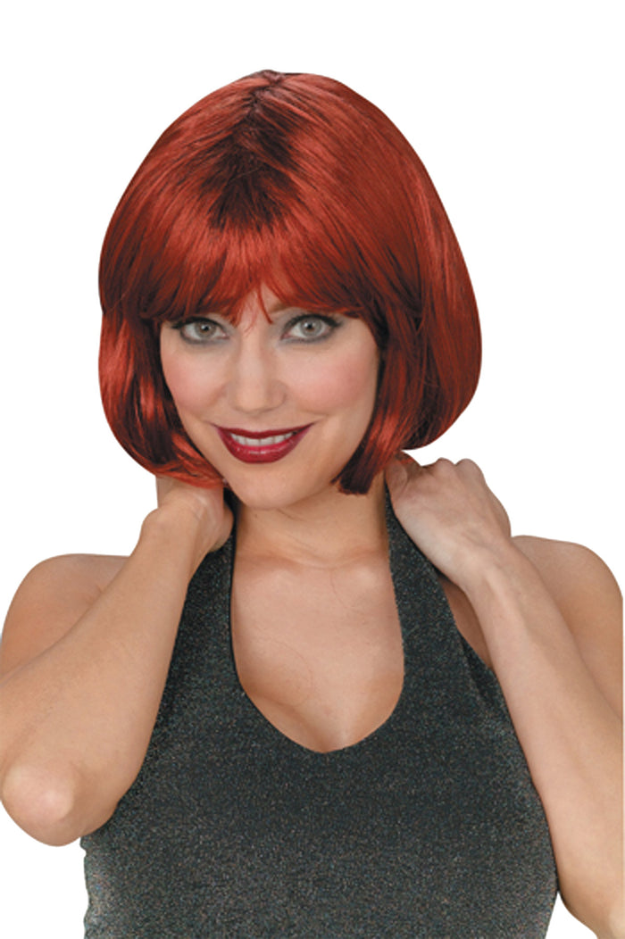Bob Short Wig Auburn, Halloween Costumes, white wig, Wigs & Hair Costume