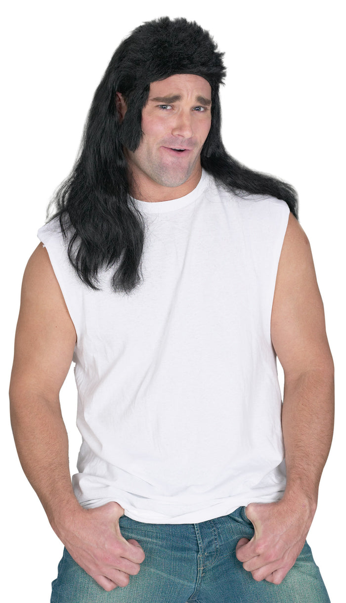 80's Costume, Halloween Costumes, Mullet Flat Top Wig, white wig, Wigs & Hair Costume