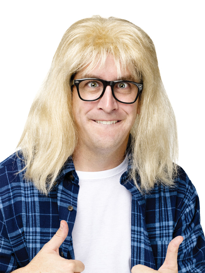 Celebrity Costume, Halloween Costumes, SNL Garth Algar Wig & Glasses, white wig, Wigs & Hair Costume