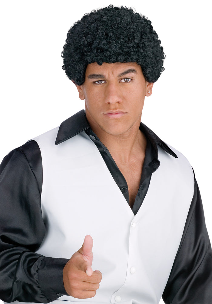 80's Costume, Halloween Costumes, Jheri Curl Black Wig, white wig, Wigs & Hair Costume