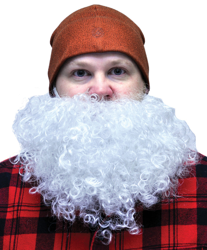 Beard Big And Curly White, Halloween Costumes, Holiday Costumes, Mustache & Beards Costume
