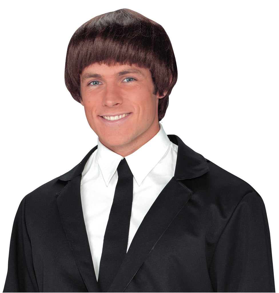 60's - 70's Costume, 60s Band Member Brown Wig, Halloween Costumes, white wig, Wigs & Hair Costume
