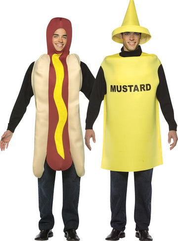 Hot Dog & Mustard Adult Couples Costume