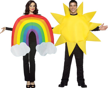 Rainbow & Sun Adult Couples Costume