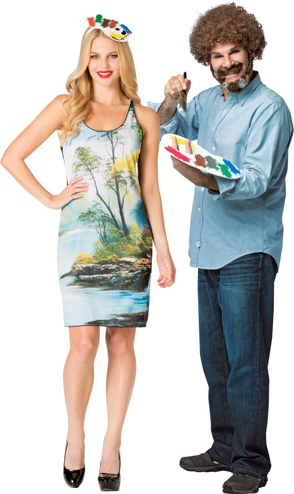 Bob Ross Kit & Dress Adult Couples Costume