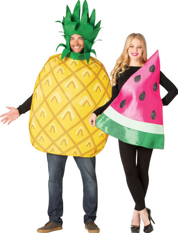 Pineapple Water Melon Adult Couples Costume