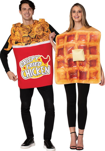 Bucket Chicken Waffle Adult Couples Costume