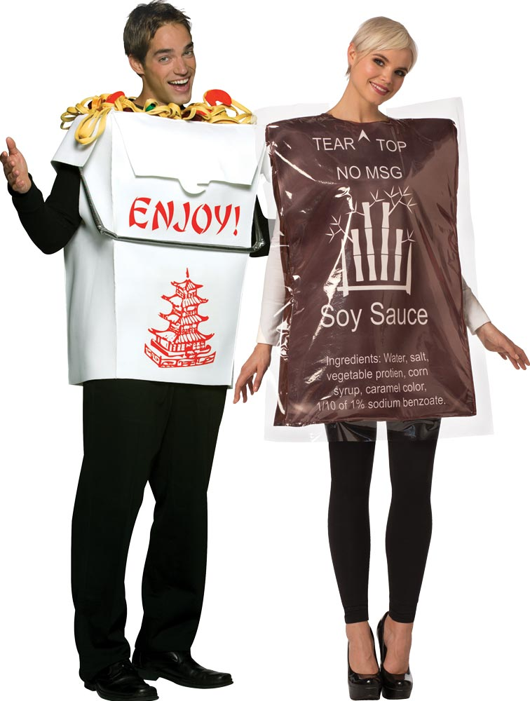 Chinese Take O Soy Sauce Adult Couples Costume