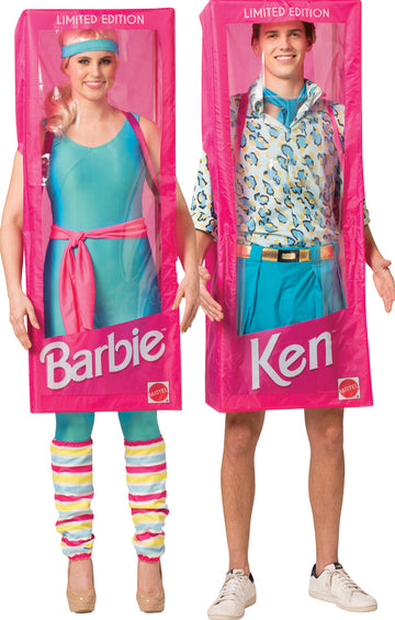 Barbie Box & Ken Box Adult Couples Costume