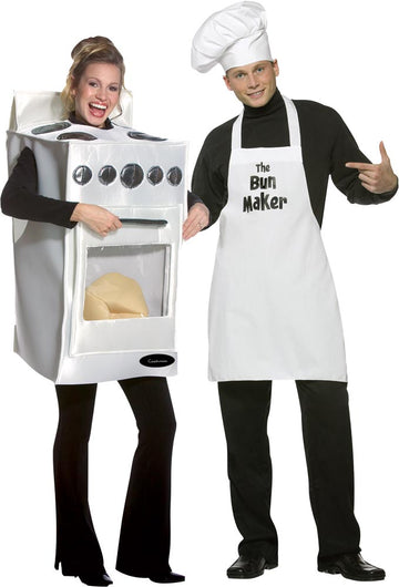Bun In The Oven & Bun Maker Adult Couples Costume