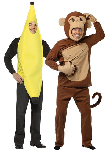 Banana & Monkey Adult Couples Costume