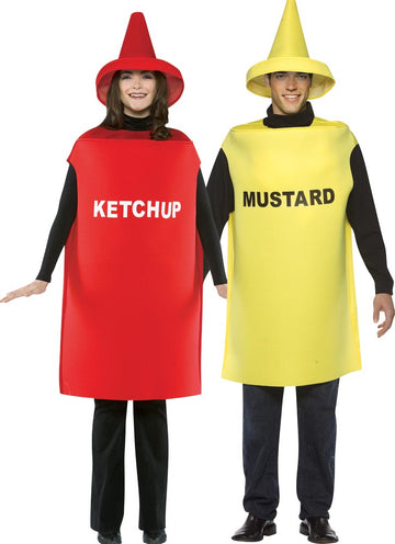 Ketchup & Mustard Adult Couples Costume