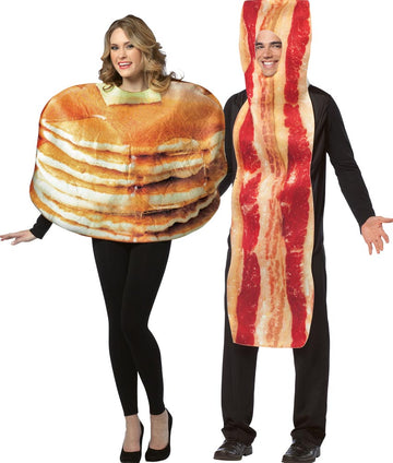 Pancake & Bacon Slice Adult Couples Costume