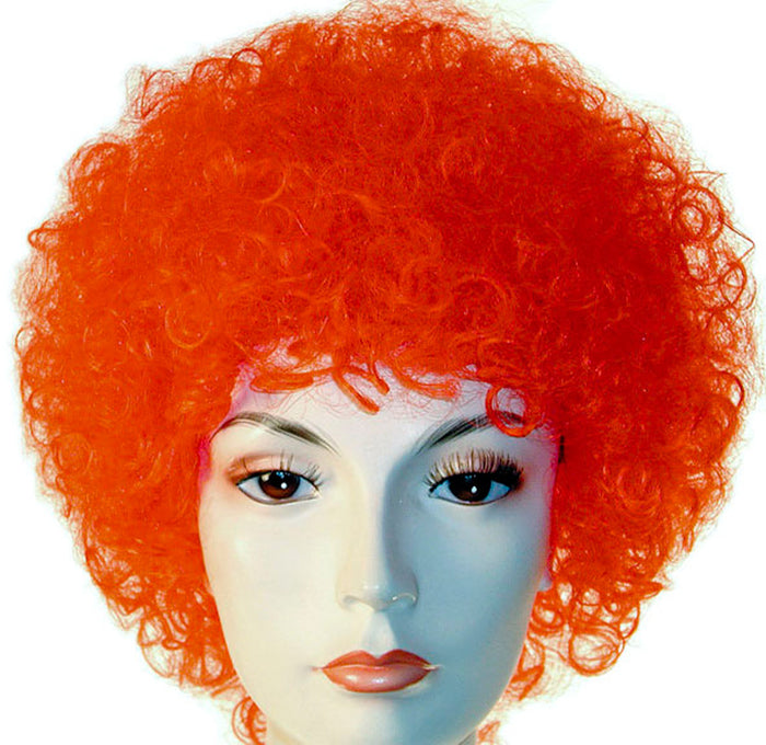 Clown & Mime Costume, Curly Clown Orange Wig, Halloween Costumes