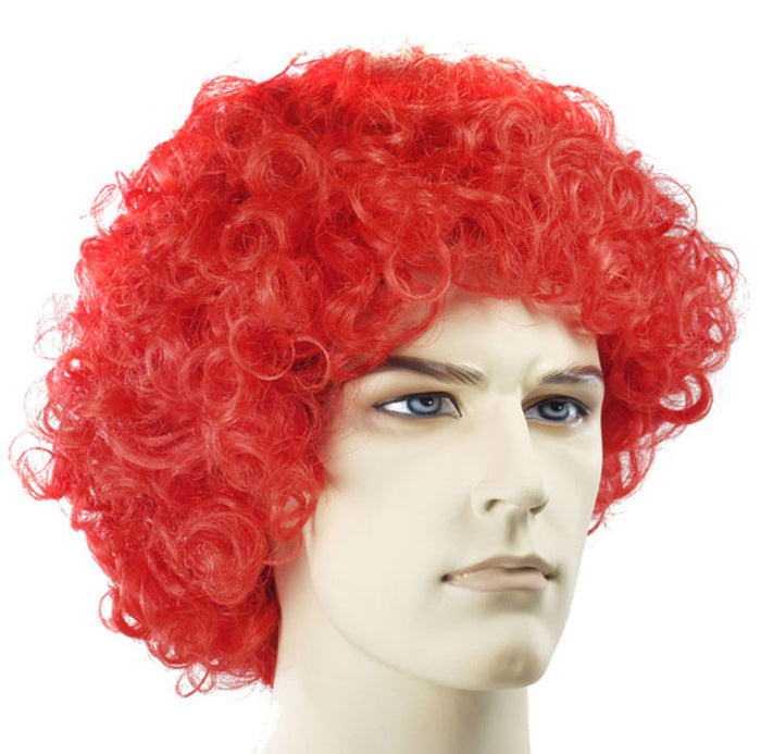 Clown & Mime Costume, Curly Clown Fd Red Wig, Halloween Costumes