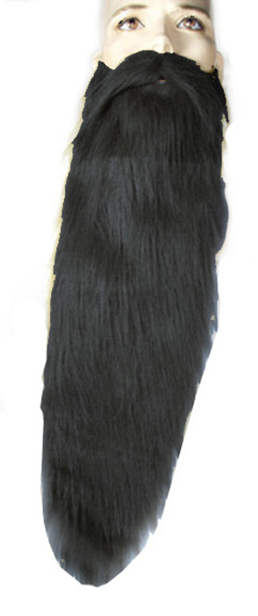 Halloween Costumes, Hillbilly Beard Long Black Wig, Mustache & Beards Costume