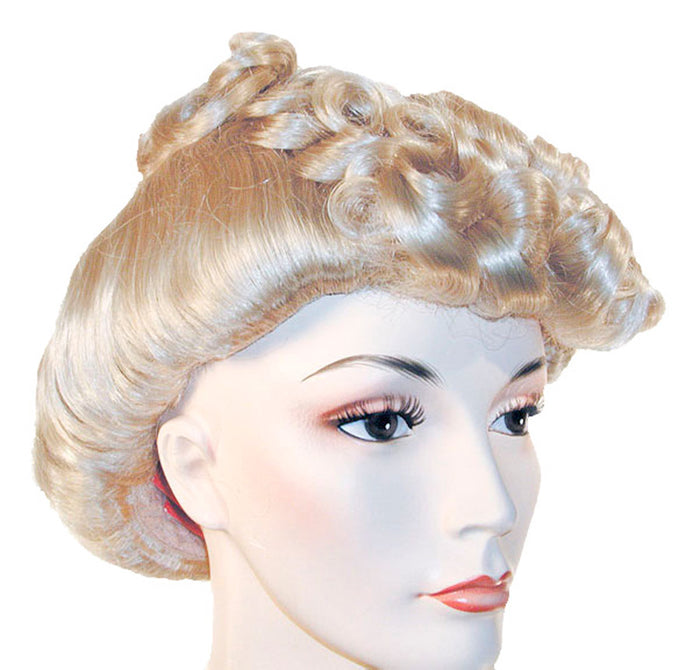 20's - 40's Costume, Halloween Costumes, Pompadour 1940 22 Blonde Wig, Wigs & Hair Costume