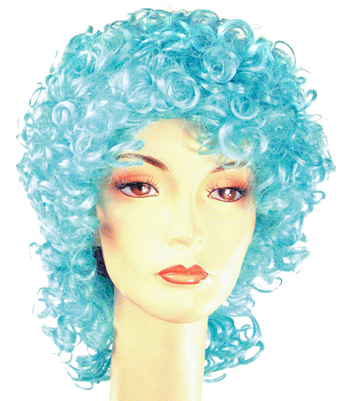 Clown & Mime Costume, Curly Clown Disc Long Cyclamen Wig, Halloween Costumes