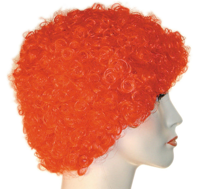 Clown & Mime Costume, Curly Clown Kk Short Red Wig, Halloween Costumes
