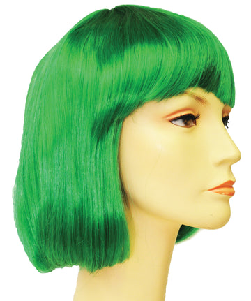 China Doll Bright Dark Green Wig, Halloween Costumes, Wigs & Hair Costume