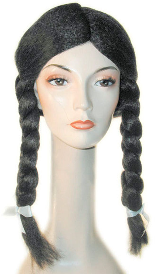 Braided With Bangs Spec Barg Black Wig, Halloween Costumes, Wigs & Hair Costume