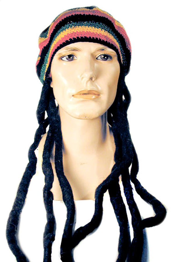 Dred Hat Black Wig, Halloween Costumes, Wigs & Hair Costume