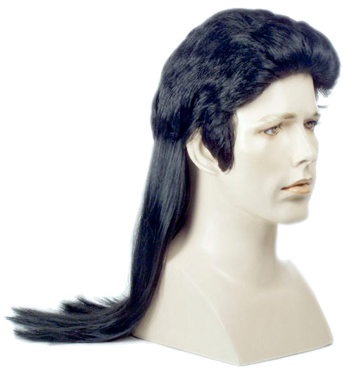 Elvi Long Mullet Dark Auburn Wig, Elvis Costume, Halloween Costumes, Wigs & Hair Costume
