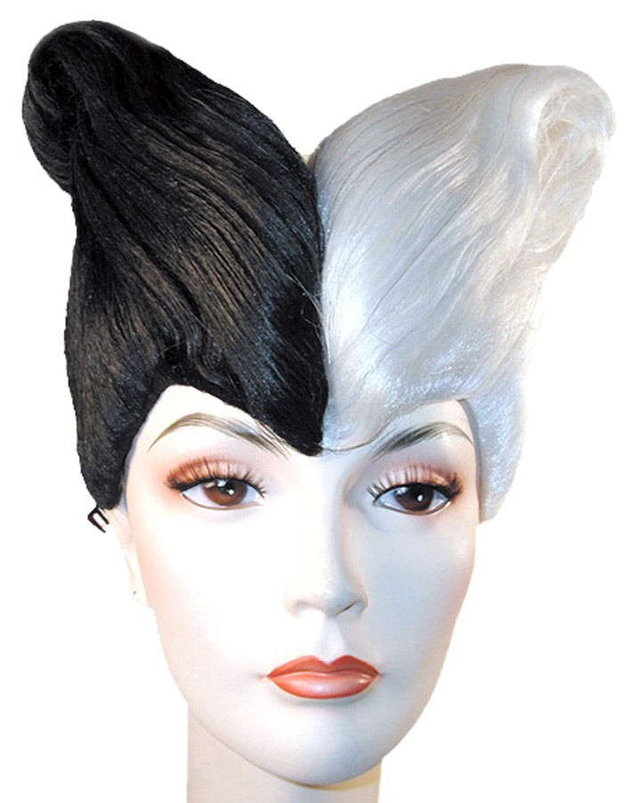 Black-White Combo B1060 Style Wig, Halloween Costumes
