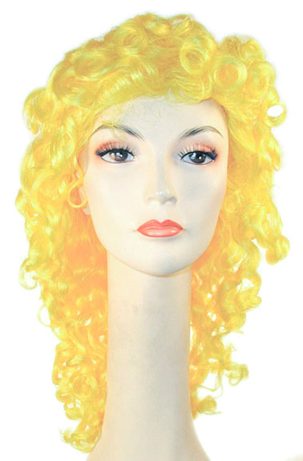 Clown Disco Wavy Yellow Kaf2 Wig, Halloween Costumes, Wigs & Hair Costume
