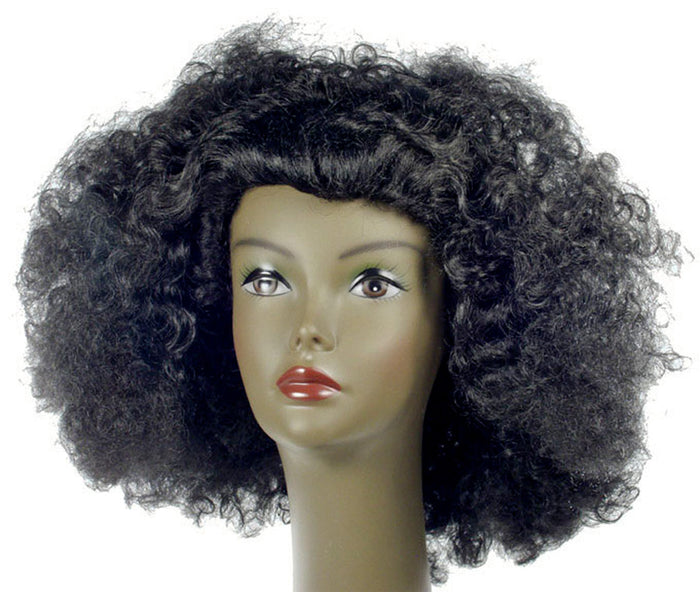 60's - 70's Costume, Afro Pulled Out Yellow Wig, Halloween Costumes, Wigs & Hair Costume