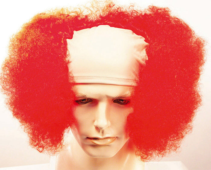 Bald Curly Clown Red Wig, Clown & Mime Costume, Halloween Costumes