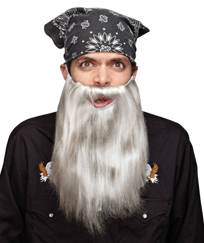 Beard Basic Grey, Halloween Costumes, Mustache & Beards Costume