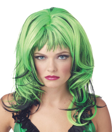 Halloween Costumes, Holiday Costumes, white wig, Wig Hard Rockin Witch Black Green, Wigs & Hair Costume
