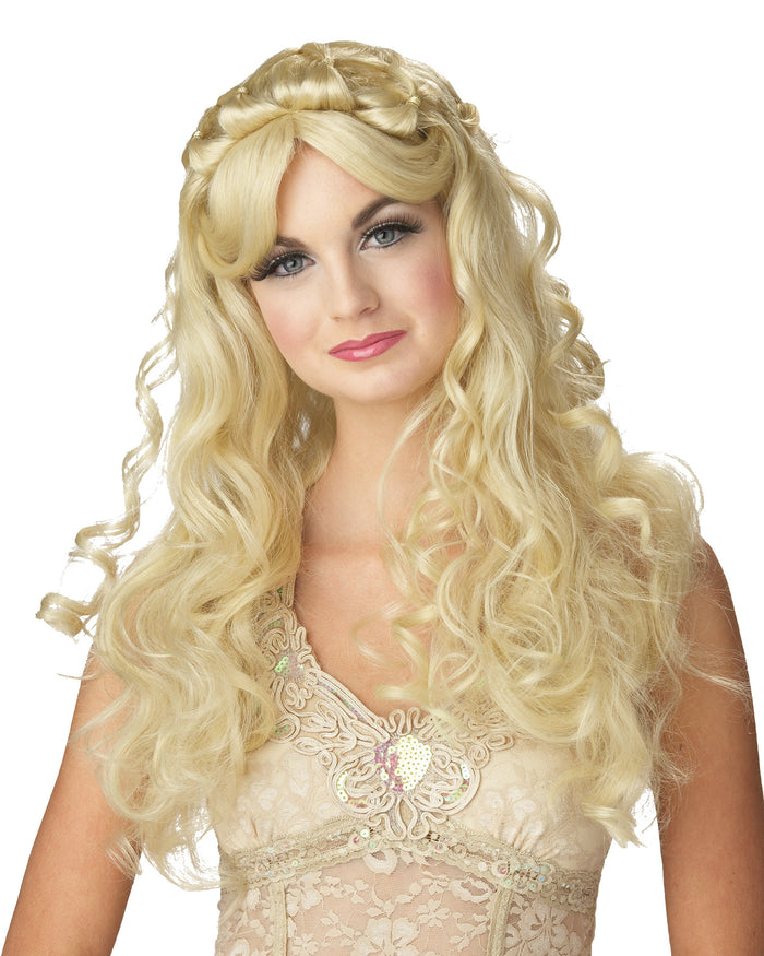 Blonde Princess Wig, Halloween Costumes, Royalty & Princess Costume, white wig, Wigs & Hair Costume