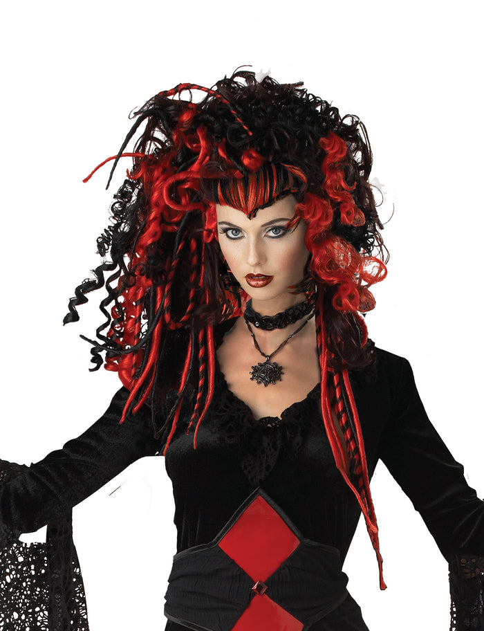 Black Widow Nightmare Wig, Gothic & Vampire Costume, Halloween Costumes, white wig, Wigs & Hair Costume