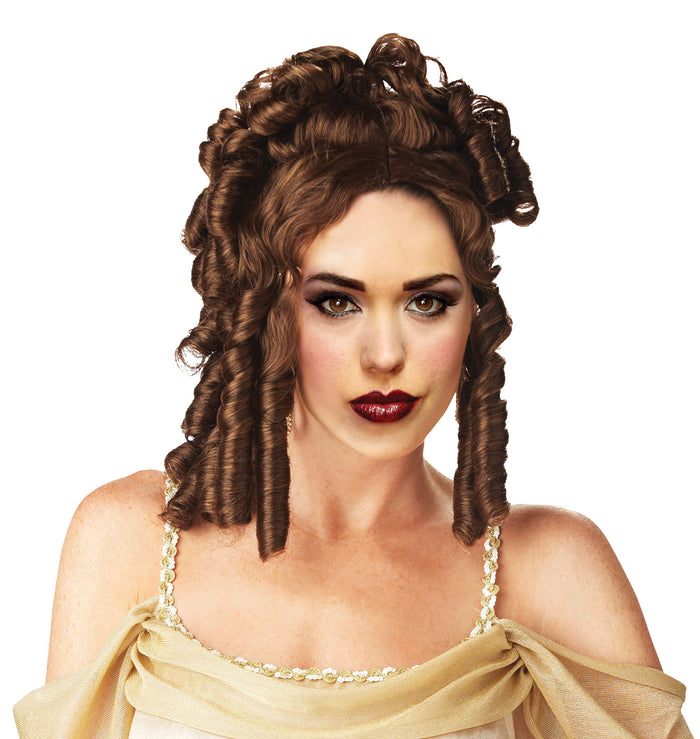Goddess Wig Brown, Greek & Roman Costume, Halloween Costumes, white wig, Wigs & Hair Costume
