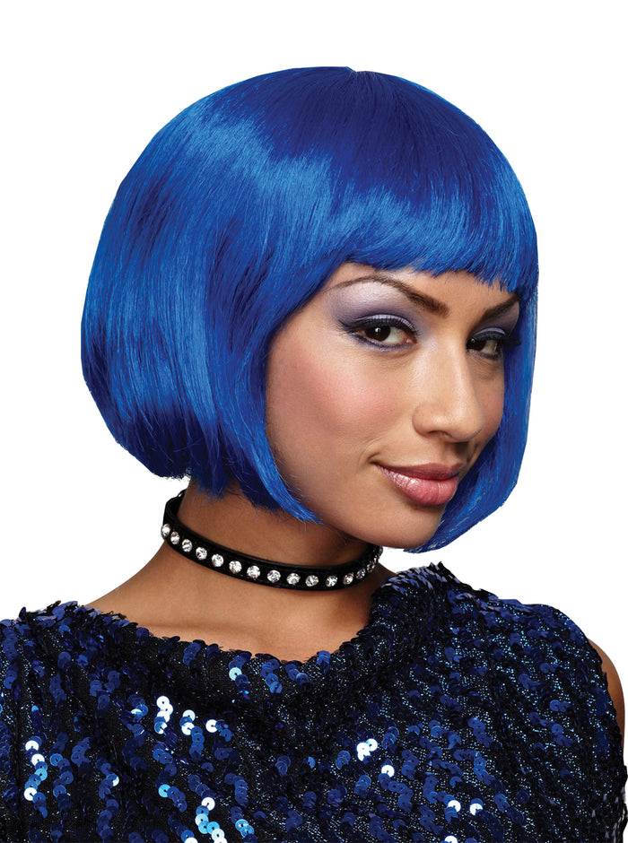 Blue Bob Wig, Halloween Costumes, white wig, Wigs & Hair Costume