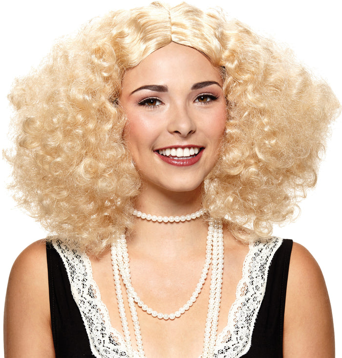 20's - 40's Costume, Embrace The Frizz Blonde Adult Wig, Halloween Costumes, Wigs & Hair Costume