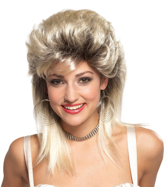 80's Costume, Halloween Costumes, white wig, Wig Rocker Groupie 80s Blonde, Wigs & Hair Costume