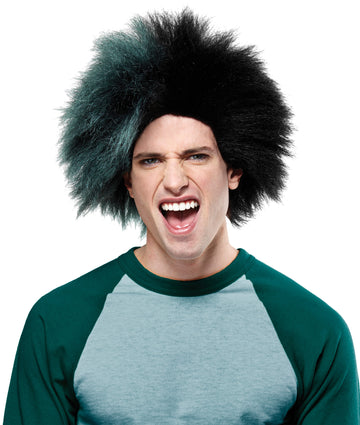 Cheerleader & Sports Costume, Halloween Costumes, Sports Team Event Wig Green Black, Wigs & Hair Costume