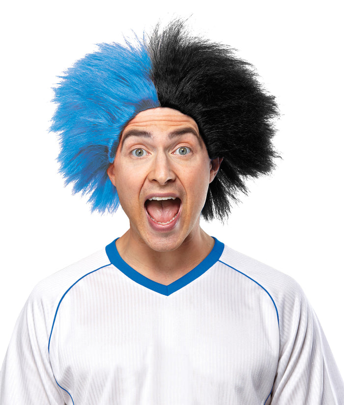 Cheerleader & Sports Costume, Halloween Costumes, Sports Team Event Wig Blue Black, Wigs & Hair Costume